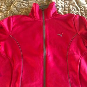 Size Large (fits like Medium) Pink Puma Zip-Up.